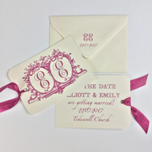 initials-wedding-save-the-date-tags-with-initials-monogram-typographic-plum-maroon-burgundy-wine