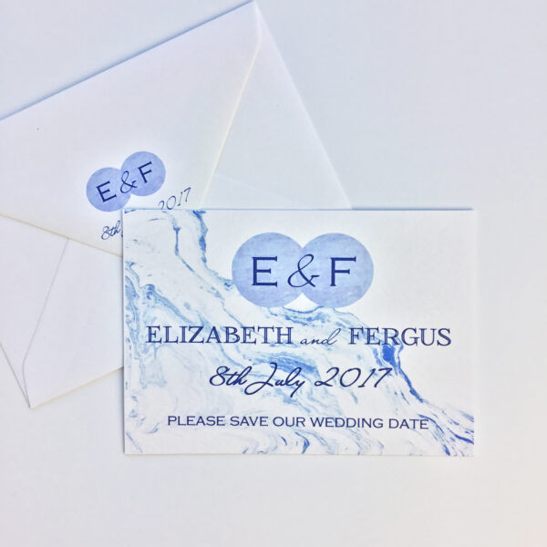 blue_marble_watercolour_wedding_save-the-date_stationery_stationary_modern_clean_fresh_initials_typographic_clarycedesign