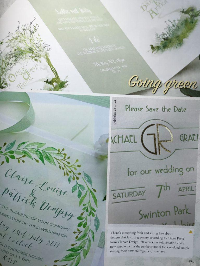 Leaf Garland Wedding Invitation