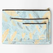 personalised-make-up-bag-with-aqua-and-yellow-leavesand-grey-feathers-cosmetics-beauty